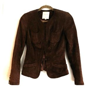 Tracy Reese brown suede blazer